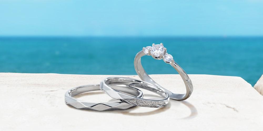 ハワイアンジュエリー結婚指輪ブランドのプライベートビーチ